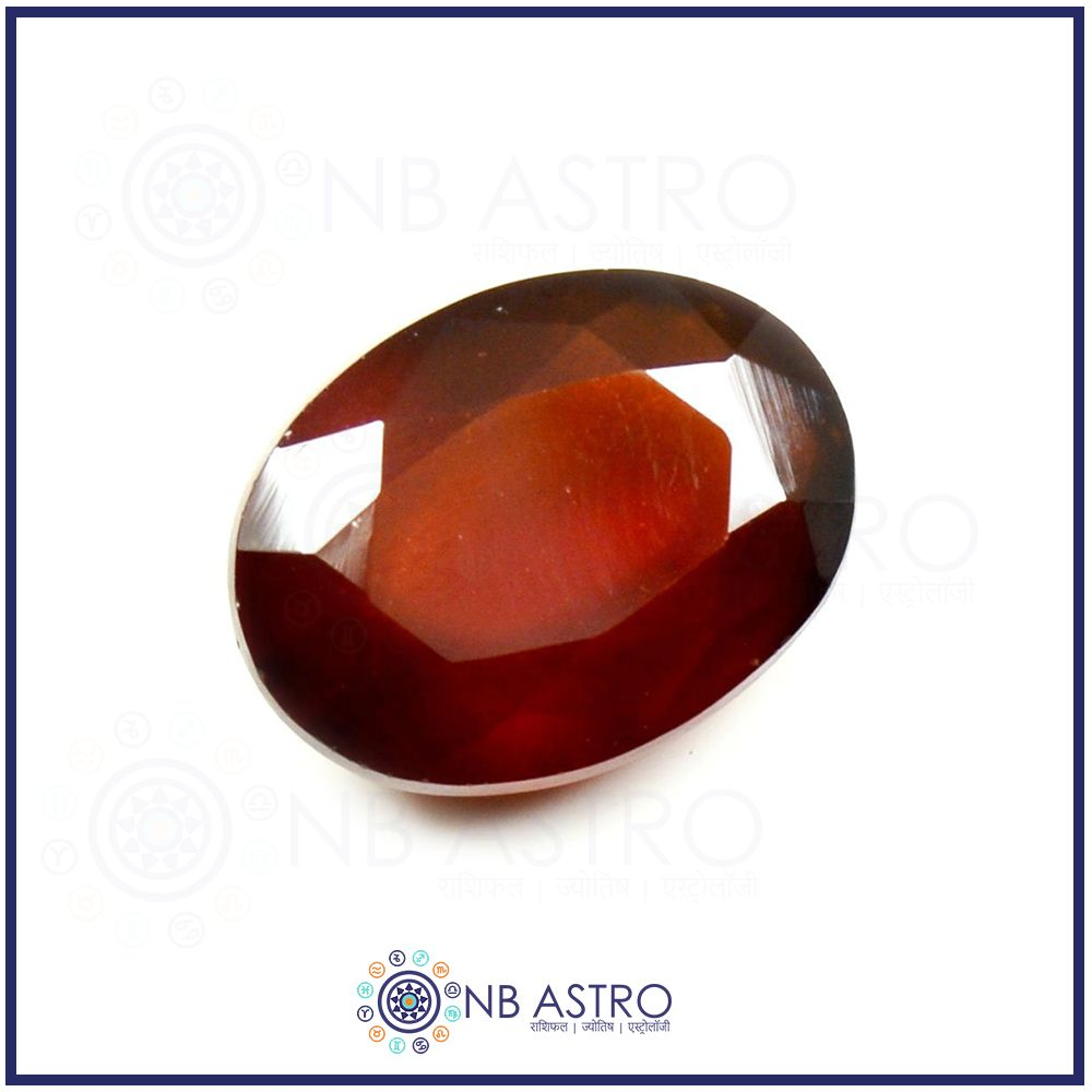 Hessonite Stone/Gomed- 3.25 Ratti - (SI Grade) 100% Natural, Certified and Mantra Treated