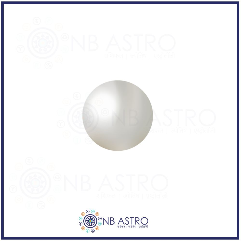 Pearl Stone/Moti- 9.25 Ratti - (VSS GRADE) 100% Natural, Certified and Mantra Treated