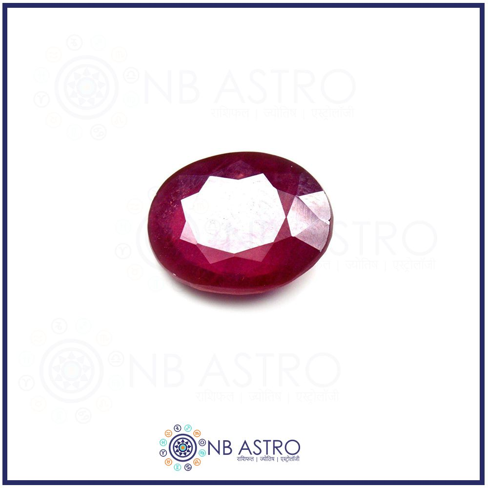 RUBY Stone/Manik- 3.25 Ratti - (FL Grade) 100% Natural, Certified and Mantra Treated